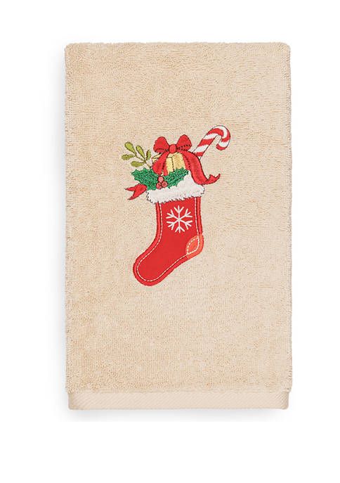 Linum Home Textiles Christmas Stocking Embroidered Luxury Turkish