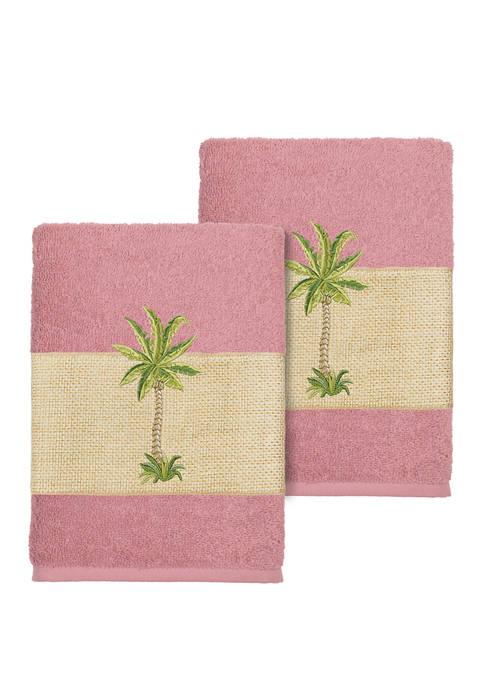 Colton 2 Piece Embellished Washcloth Set
