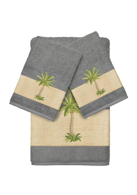 Linum Home Textiles Colton 3 Piece Embellished Towel