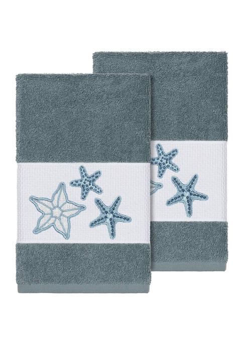 Lydia 2 Piece Embellished Hand Towel Set