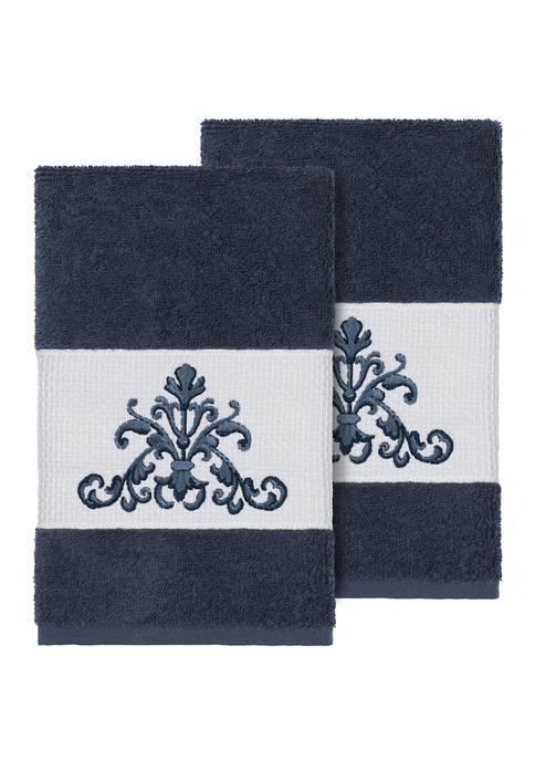 Linum Home Textiles Scarlet 2 Piece Embellished Hand