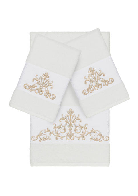 Linum Home Textiles Scarlet 3 Piece Embellished Towel