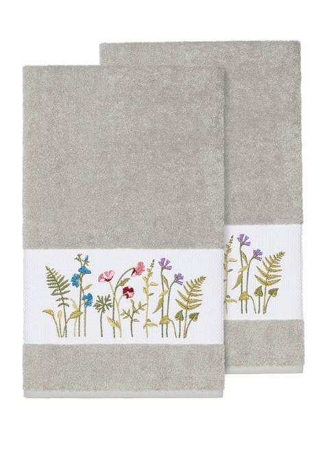 Serenity 2 Piece Embellished Bath Towel Set