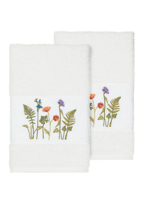 Linum Home Textiles Serenity 2 Piece Embellished Hand