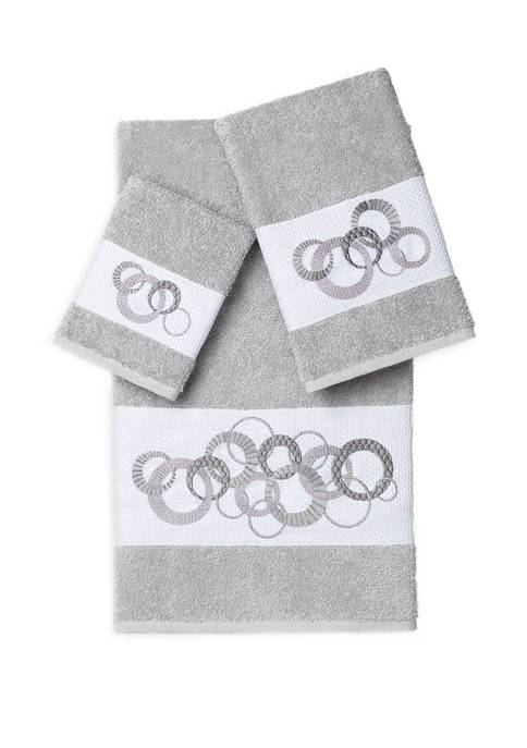 Linum Home Textiles Annabelle 3 Piece Embellished Towel