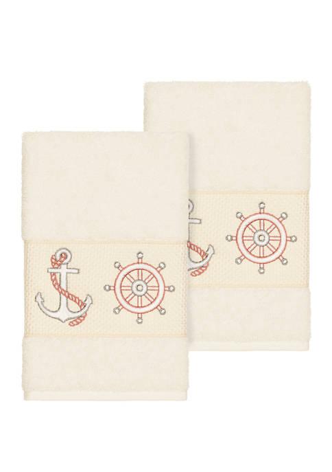 Linum Home Textiles Easton Set of 2 Embellished