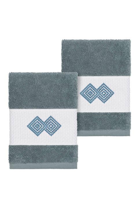 Linum Home Textiles Noah Set of 2 Embellished