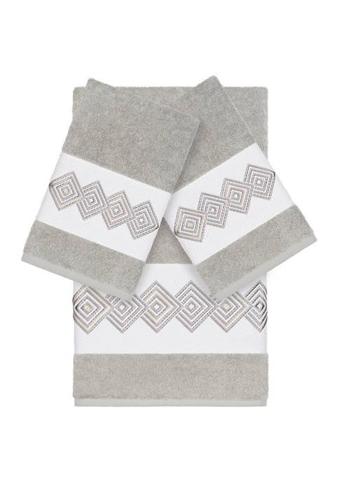 Noah 3 Piece Embellished Towel Set