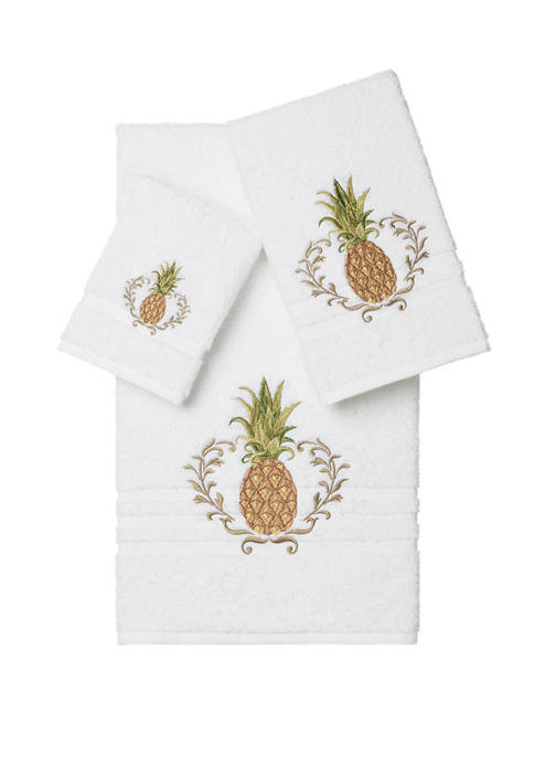 Welcome 3 Piece Embellished Towel Set