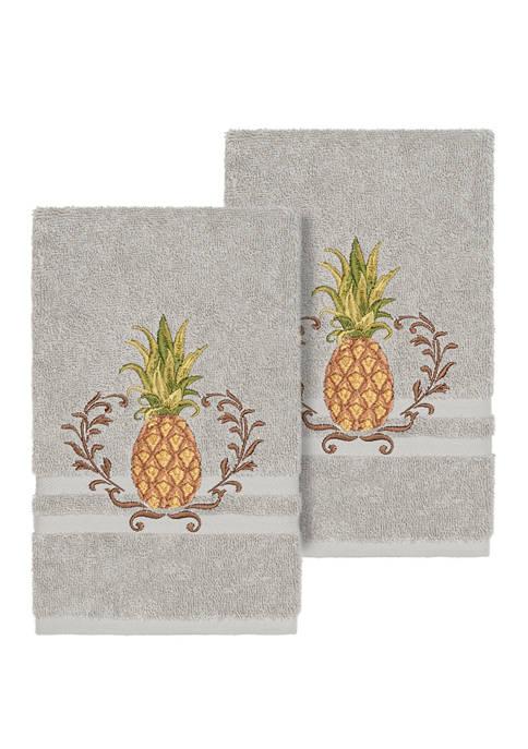 Welcome 2 Piece Embellished Hand Towel Set
