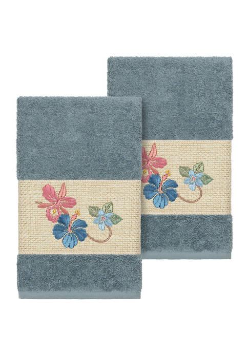 Caroline 2 Piece Embellished Hand Towel Set