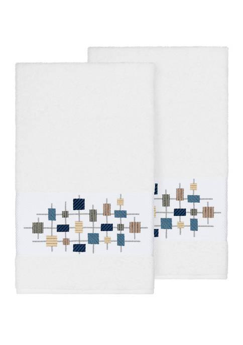 Khloe 2 Piece Embellished Bath Towel Set