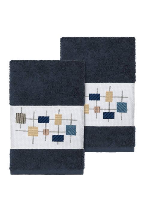Linum Home Textiles Khloe 2 Piece Embellished Hand
