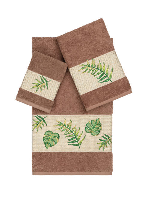 Linum Home Textiles Zoe 3 Piece Embellished Towel
