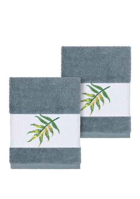 Zoe 2 Piece Embellished Washcloth Set