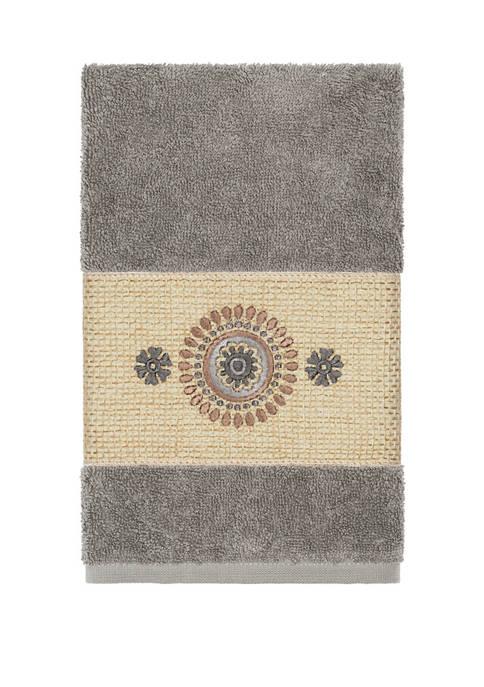 Linum Home Textiles Isabelle Embellished Hand Towel