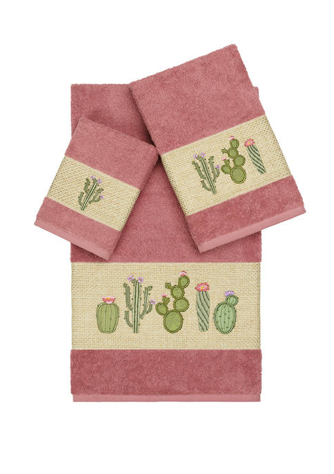 Linum Home Textiles Mila 3 Piece Embellished Towel