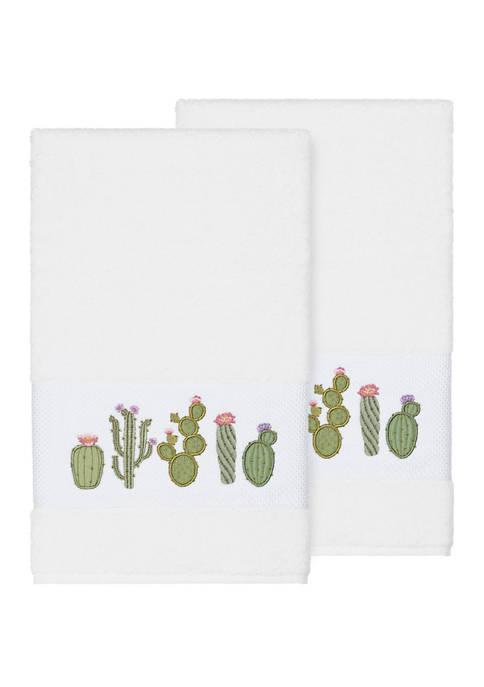 Mila 2 Piece Embellished Bath Towel Set