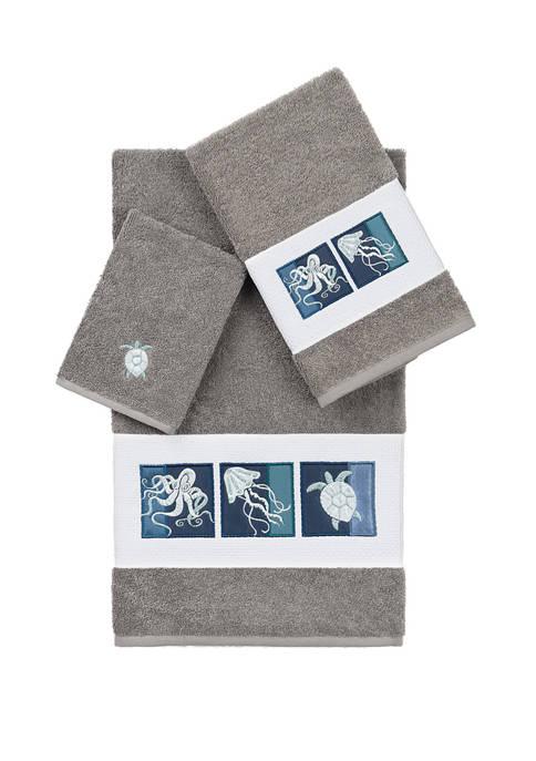 Ava 3 Piece Embellished Towel Set