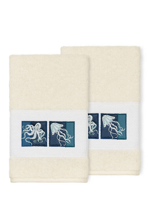 Linum Home Textiles Ava 2 Piece Embellished Hand