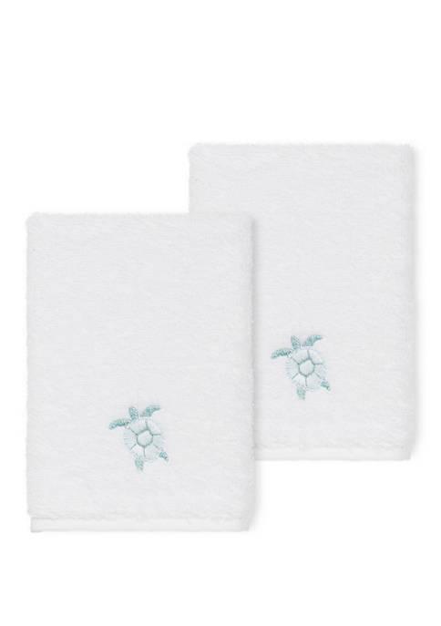 Ava 2 Piece Embellished Washcloth Set