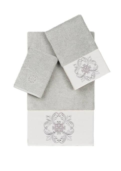 Linum Home Textiles Alyssa 3 Piece Embellished Towel