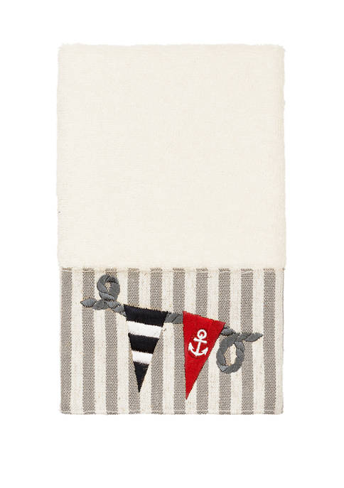 Linum Home Textiles Ethan Embellished Hand Towel