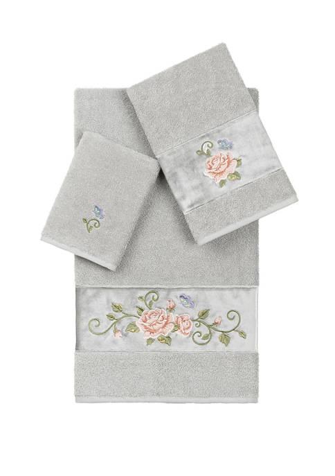 Rebecca 3 Piece Embellished Towel Set