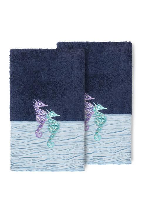 Sofia 2 Piece Embellished Hand Towel Set