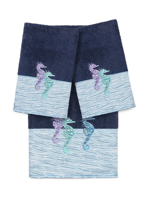 Linum Home Textiles Sofia 3 Piece Embellished Towel