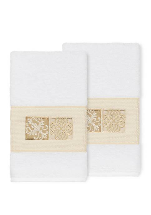 Vivian 2 Piece Embellished Hand Towel Set