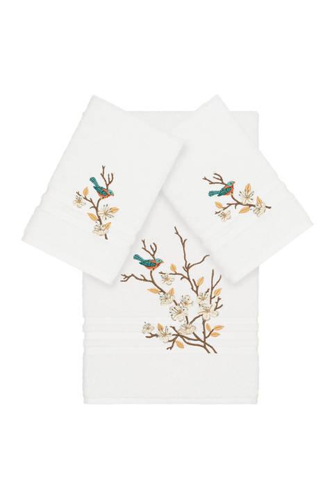 Linum Home Textiles Spring Time 3 Piece Embellished