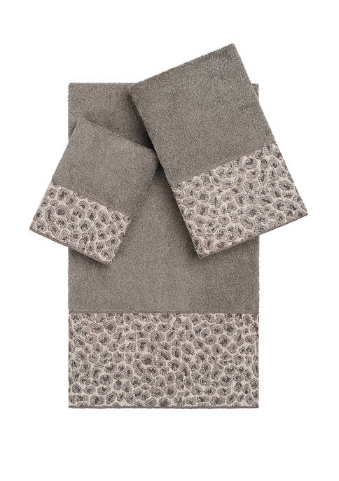 Linum Home Textiles Spots 3 Piece Embellished Towel