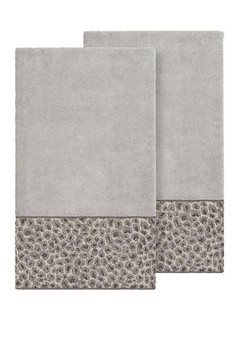 Linum Home Textiles Spots 2 Piece Embellished Bath
