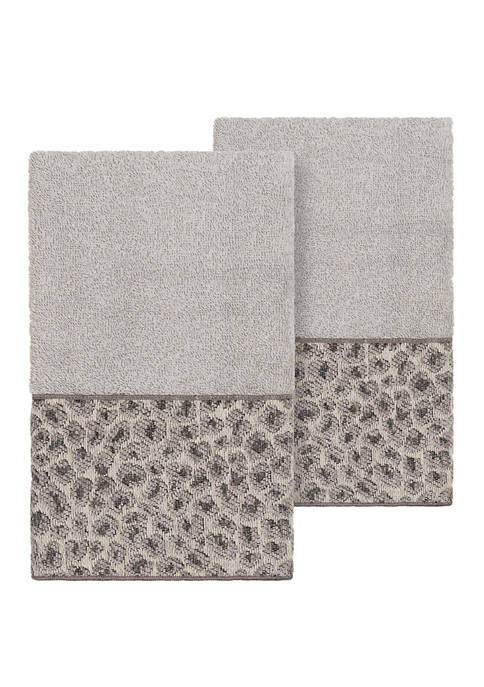 Linum Home Textiles Spots 2 Piece Embellished Hand