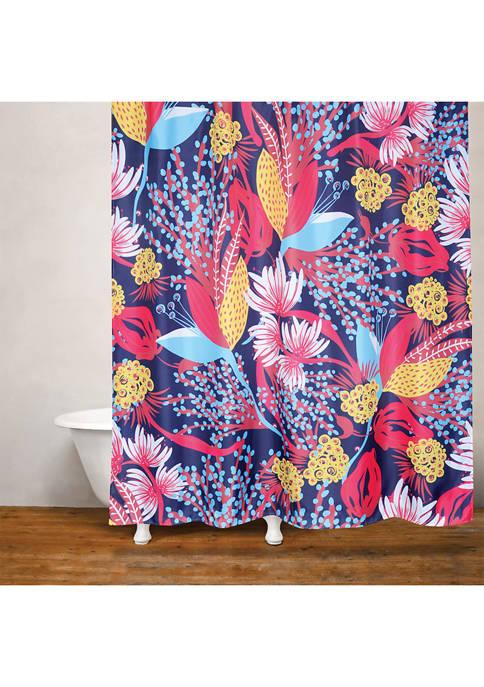 Crysanthemum Fabric Shower Curtain