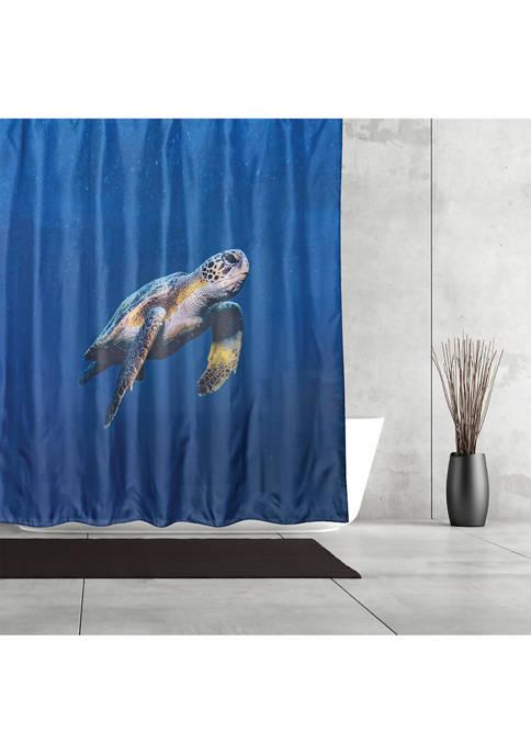 Sea Turtle Fabric Shower Curtain