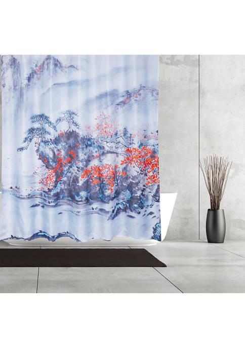 MODA Chinese Painting Fabric Shower Curtain