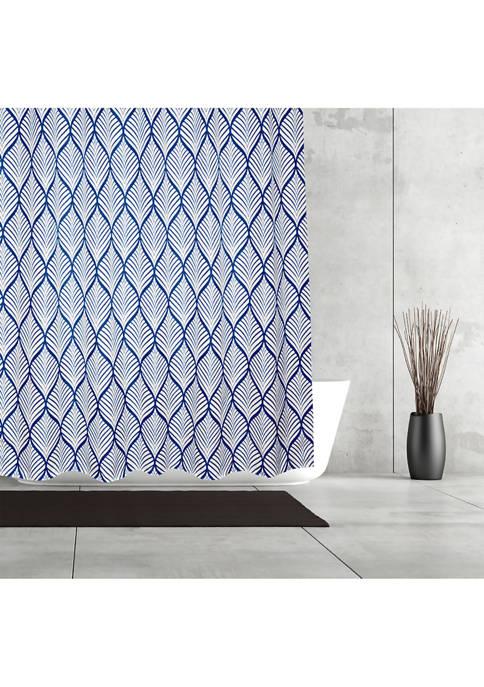 Deco Leaf Fabric Shower Curtain