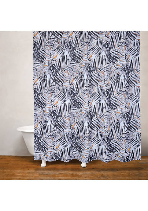 Rainforest Palm Fabric Shower Curtain