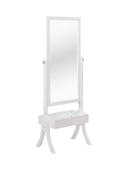 Tara Cheval Mirror White