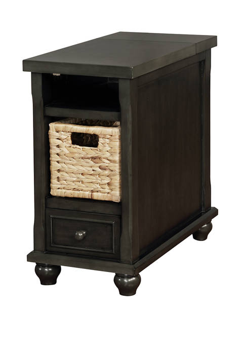 Powell Company Scott End Table in Charcoal Gray