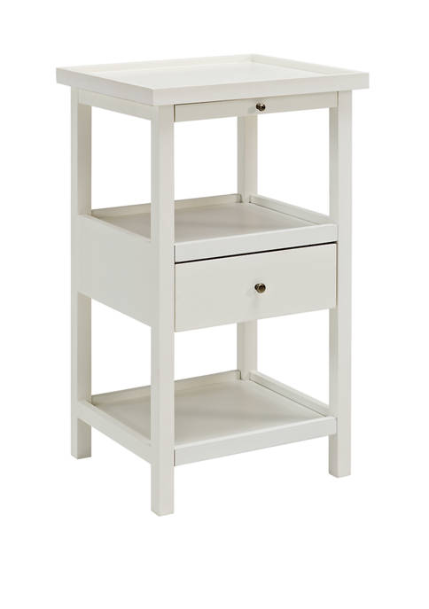 Powell Company Callies Side Table in White