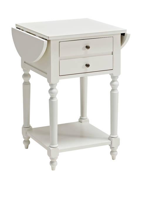Powell Company Glenn Side Table in White