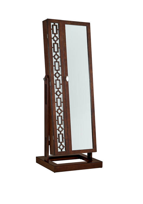 Powell Company Dianne Cheval Mirror in Cherry