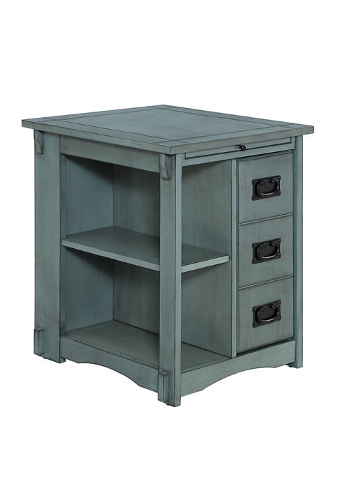 Powell Company Brock Side Table in Teal