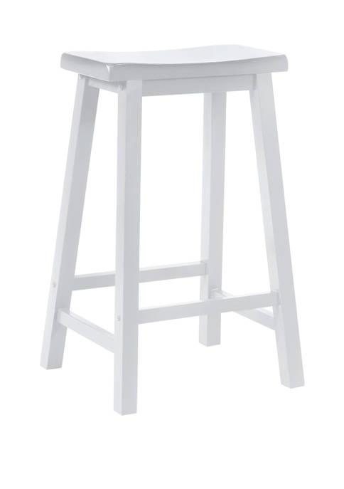 Milton Barstool in White