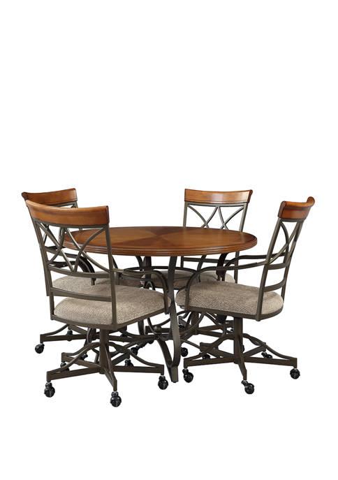 Powell Company 5 Piece Elyse Swivel Dining Set