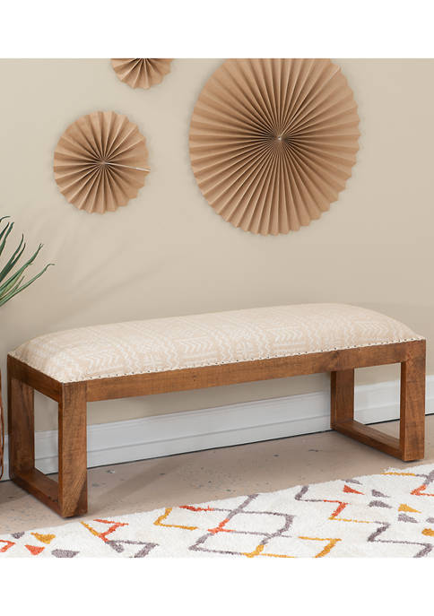 Powell Company Troon Bench Brown