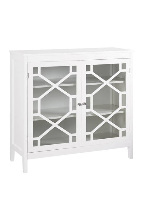 Linon Home Décor Products Griffin Gray Large Cabinet
